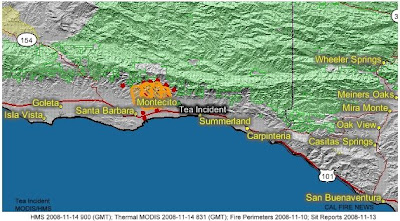 Tea Fire Incident Map-geomac Incident map
