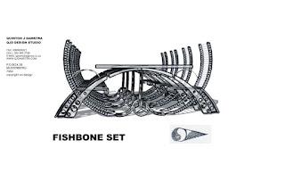 QJD Design studio wildetect: fish bone table set