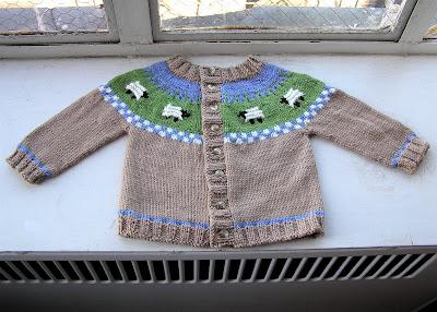 18a259a0c Looking Glass Knits  Sheep Yoke Baby Cardigan Pattern