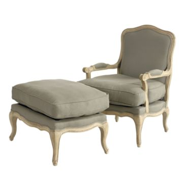 Marvelous The Louisa Bergere Chair U0026 Ottoman.