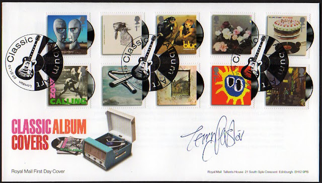 Classic Album Covers FDC signed by Terry Pastor.