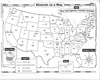 Water for Sixth Grade: Daily Geography: Elements on a Map