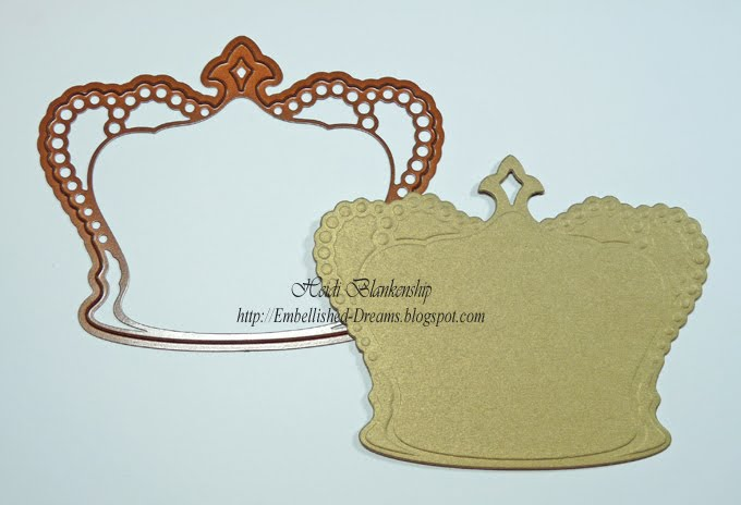 Embellished Dreams: 1st Day Of CHA And Crown Shape Card