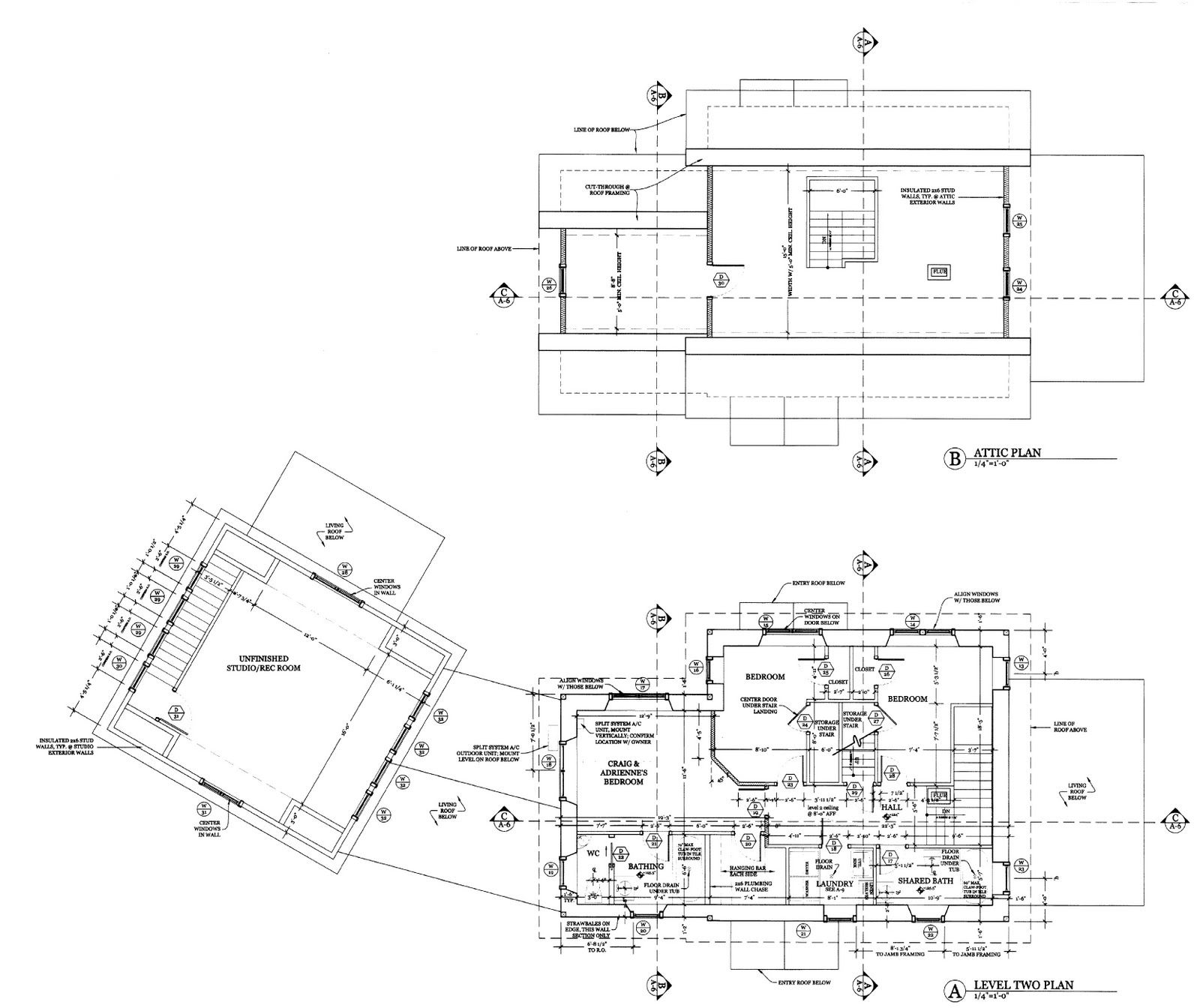 First Pig Our Straw Bale House Blog Elevations and Floorplans – Straw Bale House Floor Plans