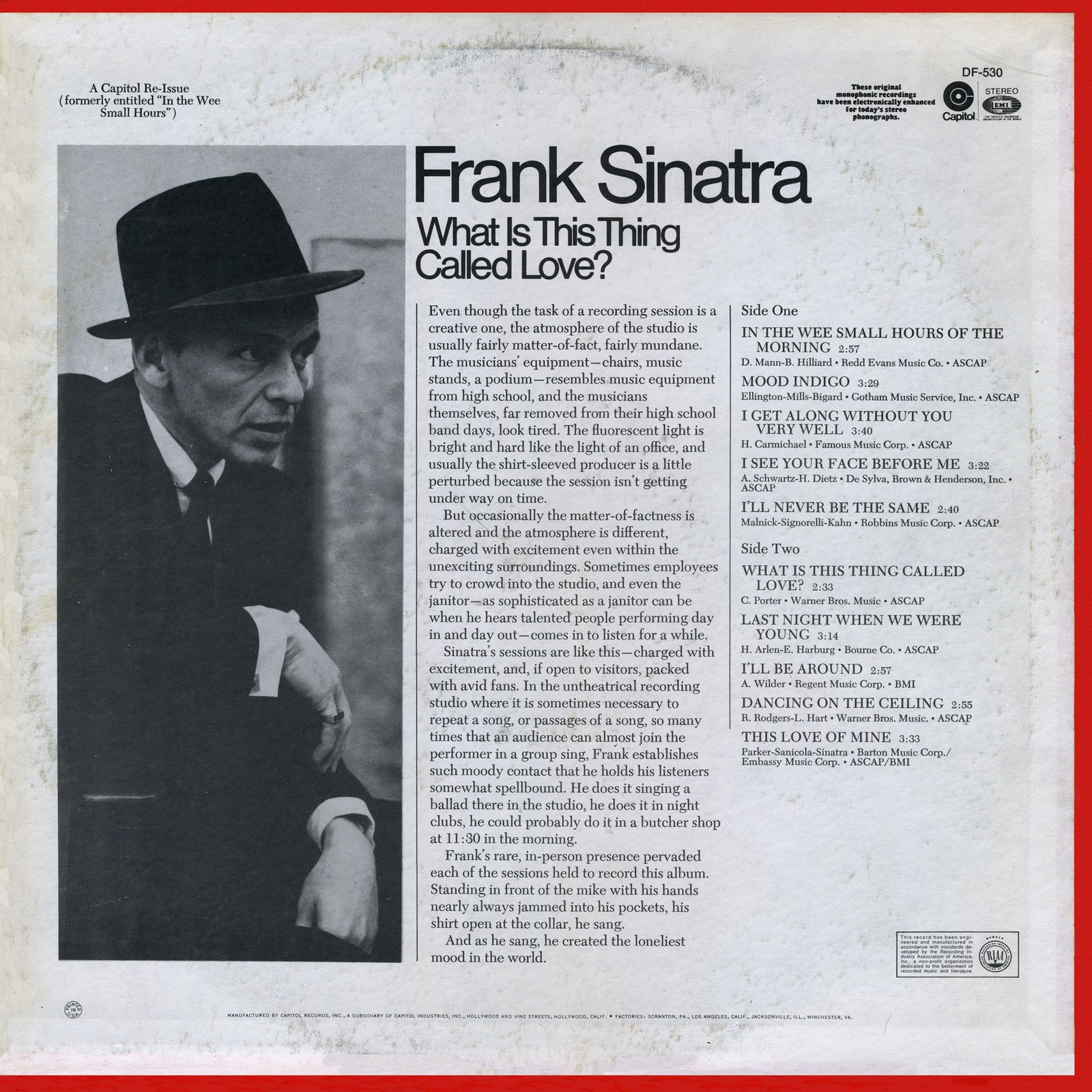 Love Each Other When Two Souls: I Got Your Back!: Frank Sinatra