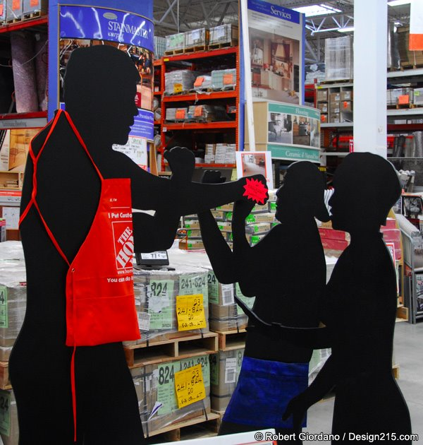 Weird cardboard cutout display at Home Depot