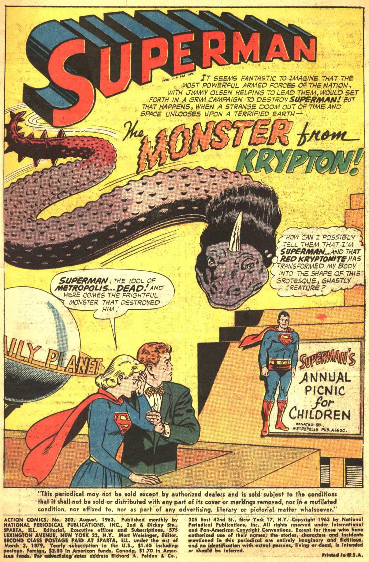 Action Comics (1938) 303 Page 1