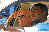 Bruce Willis an Tracy Morgan in the comedy movie Cop Out.