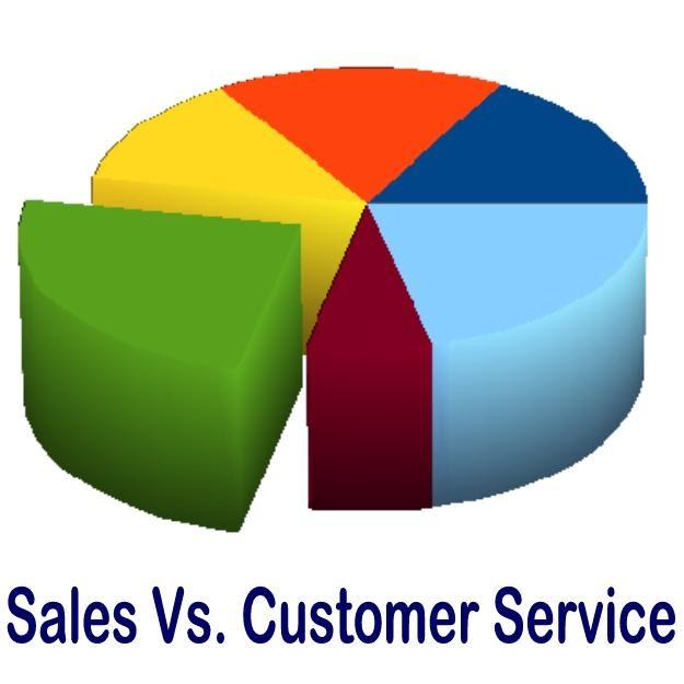 Sales vs Customer Service  Business of Service The Art