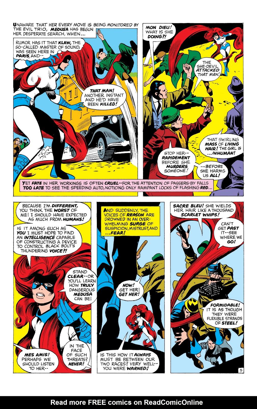 Read online Marvel Masterworks: The Inhumans comic -  Issue # TPB 1 (Part 1) - 48