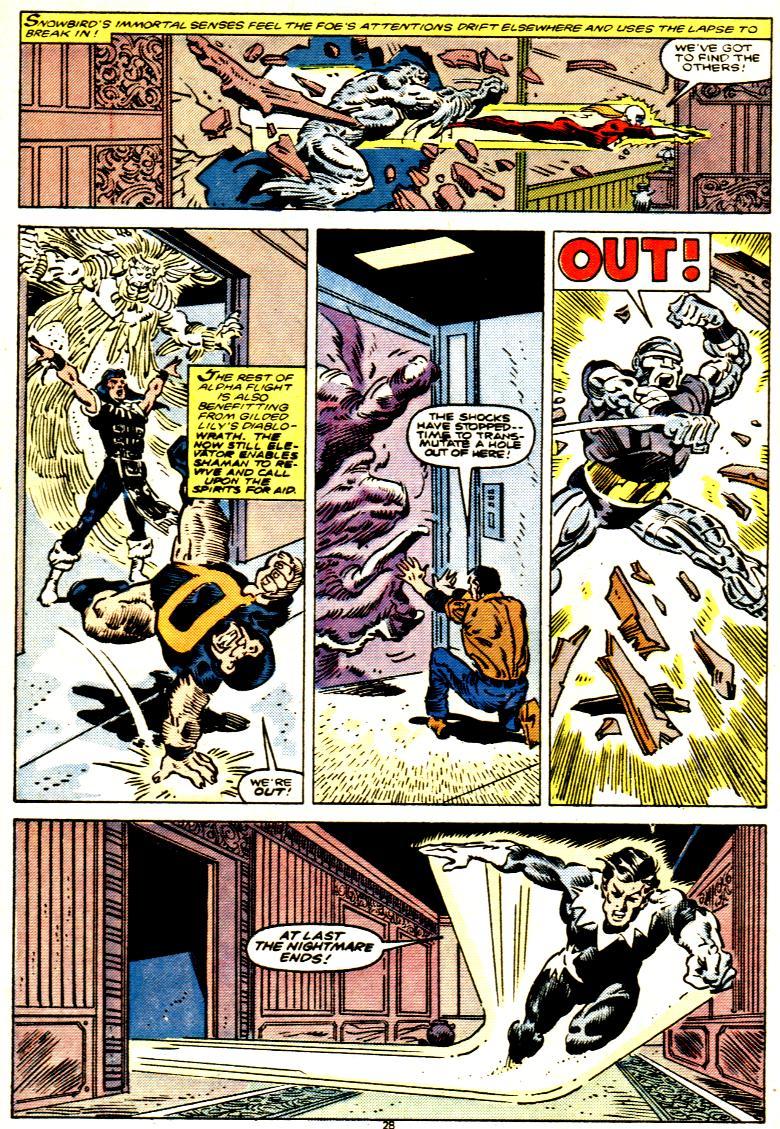 Read online Alpha Flight (1983) comic -  Issue # _Annual 1 - 29