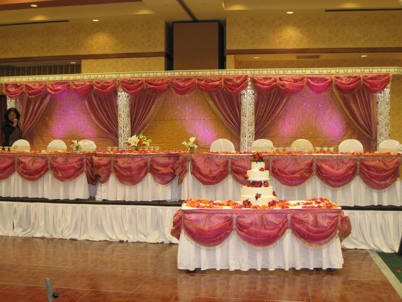 Melissa Marie Floral Design An Indian Wedding Reception Fuchsia