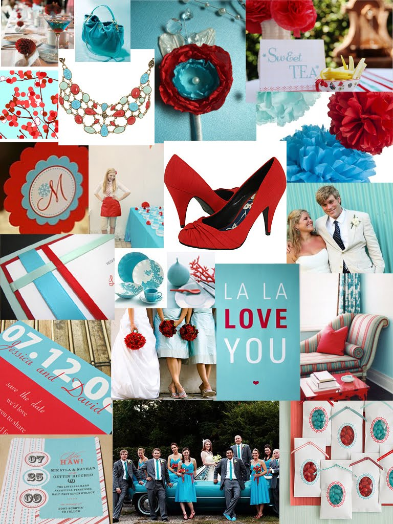 Paper Doll Romance Color Day Turquoise Red