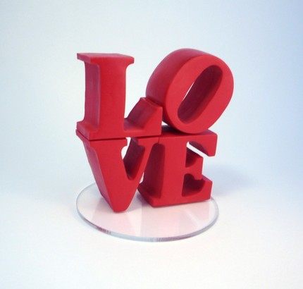 Love Statue Wedding Cake Topper