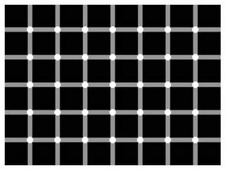 Eye tricks: How many black dots do you see?
