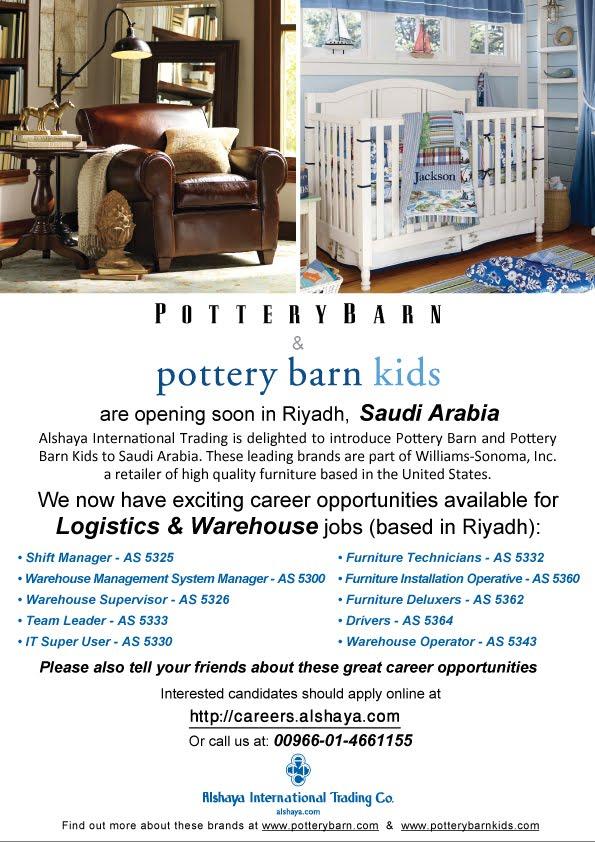Career Openings In Pottery Barn Pottery Barn Riyadh