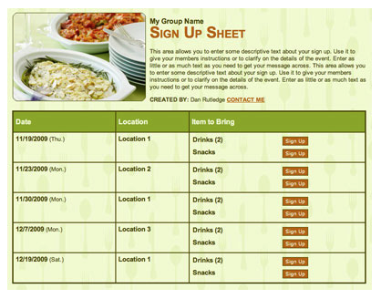 sign up genius new r s e mail meal sign up sheets martinez ward