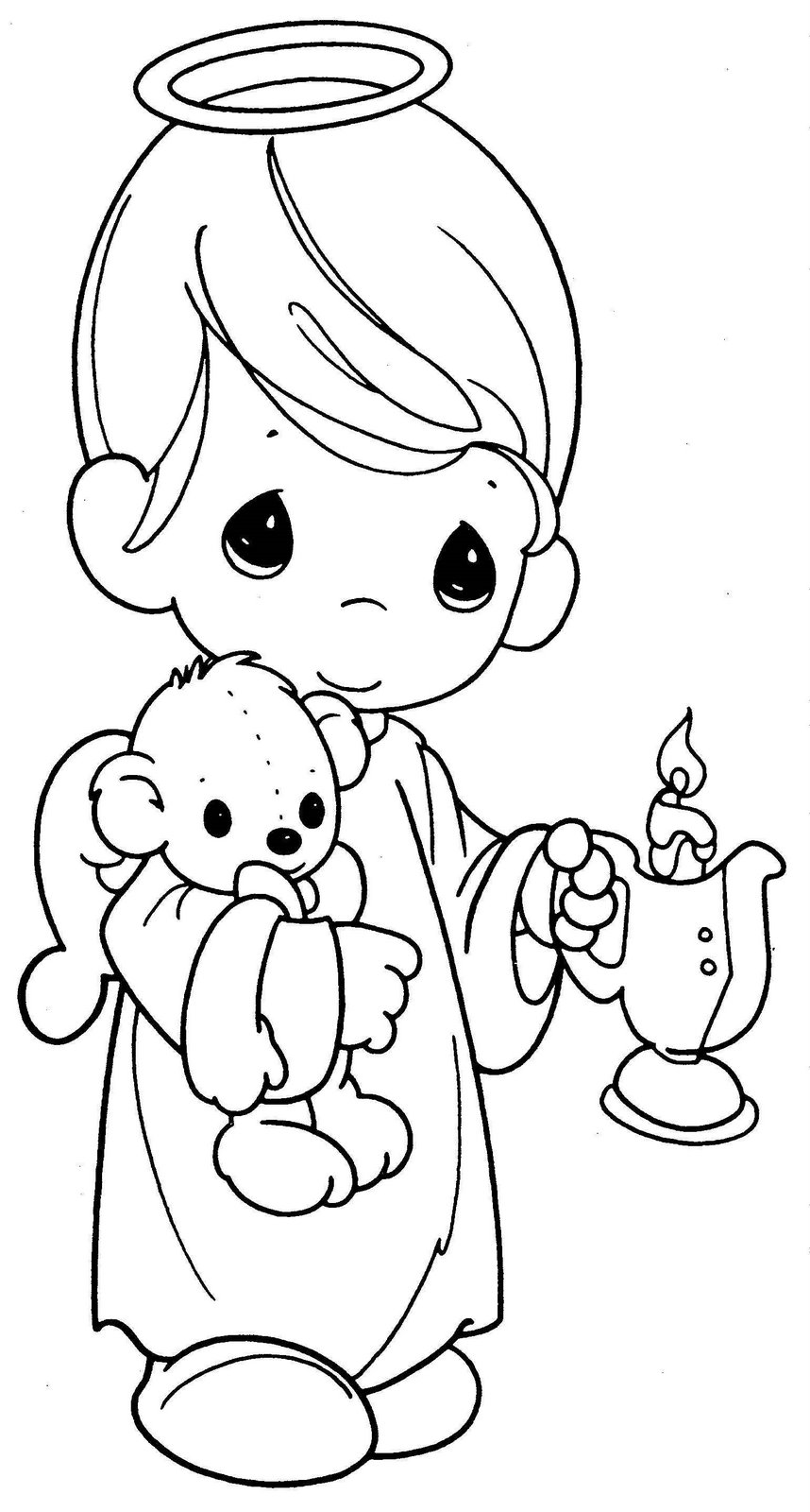 baby boy angel coloring pages - photo #24