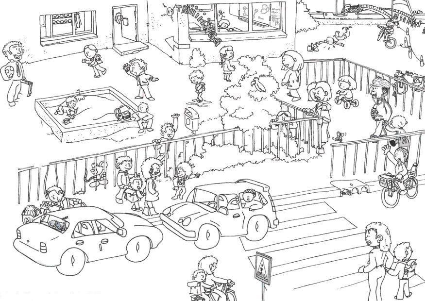 Dibujos Sobre La Escuela Para Colorear E Imprimir: Imagenes De La Ciudad Para Colorear