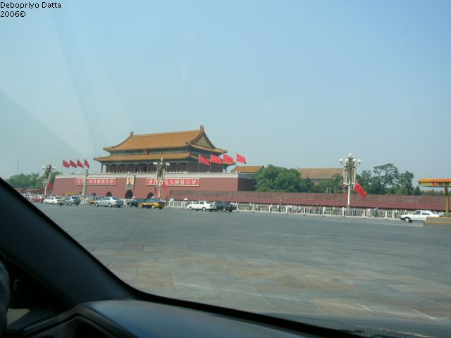 Tiananmen Square, Beijing, China . . . You can see Mao's portrait
