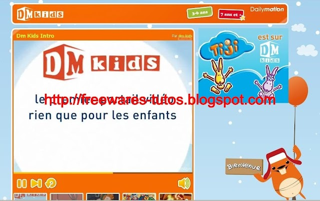 Le site du jour : DM Kids, DailyMotion version juniors