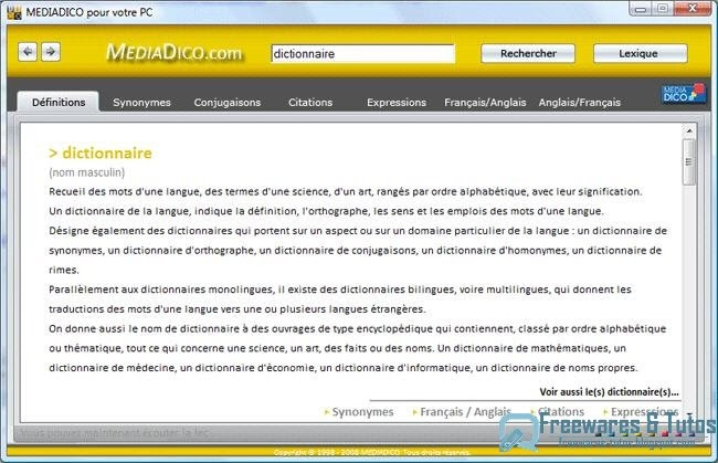 dictionnaire mediadico traduction dictionnaires html autos weblog. Black Bedroom Furniture Sets. Home Design Ideas