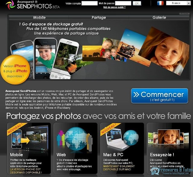 Avanquest SendPhotos : le partage de photos 3 en 1