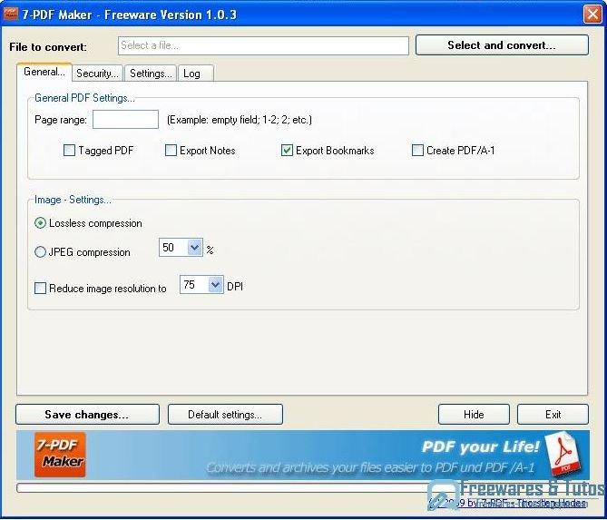 7 pdf maker un logiciel gratuit pour cr er des fichiers - Convertir un fichier pdf en open office writer ...