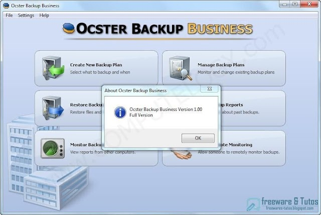 Offre promotionnelle : Ocster Backup Business gratuit !