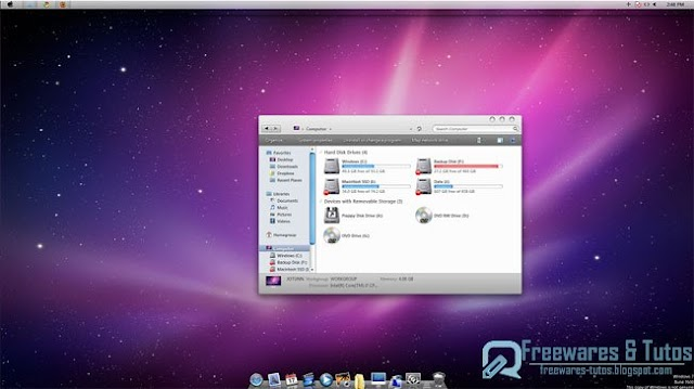 Snow Transformation Pack : un outil pour transformer Windows 7 en MacOS X Snow Leopard