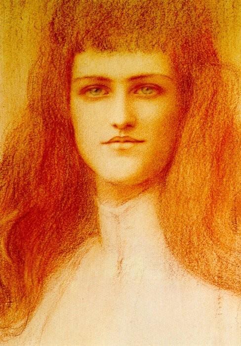 Fernand Khnopffs Redhaired Beauties  Blog of an Art Admirer