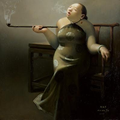 women in painting by liu baojun chinese artist blog of an art admirer. Black Bedroom Furniture Sets. Home Design Ideas