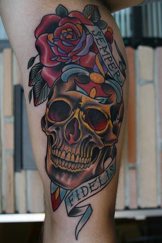 Tattoos By Stefan Johnsson Skull Rose