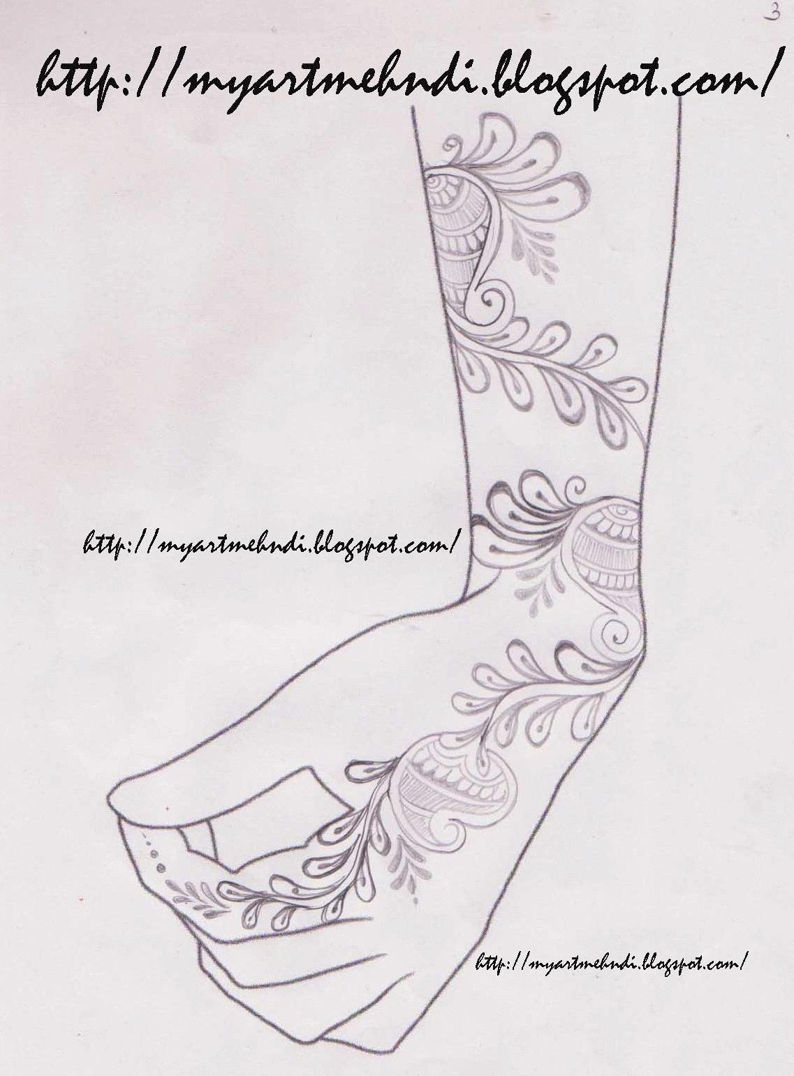 MehndiDesigns: Design on paper-3