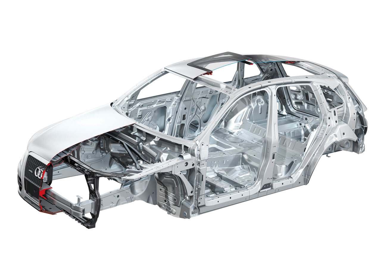 Audi Q Body Structure Uhss Boron Biw