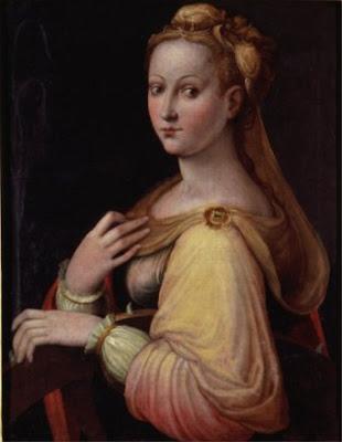 Probable autoportrait en Ste. Catherine d'Alexandrie (1579), Barara Longhi