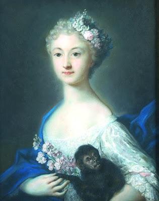 Portrait de jeune fille au singe, Rosalba Carriera