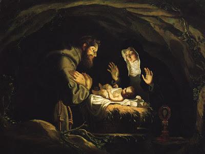 St. François d'Assise et ste. Claire adorant l'enfant Jésus (1647), Josefa de Obidos