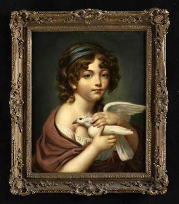 Fillette à la colombe (1790), Jeanne-Philiberte Ledoux