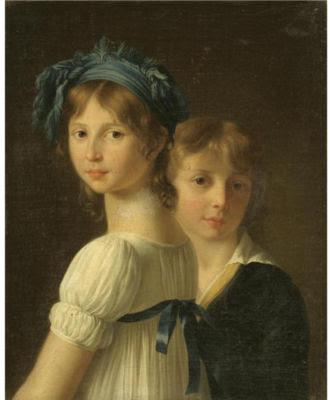 Portraits d'une soeur et d'un jeune frère, Marie-Victoire Lemoine