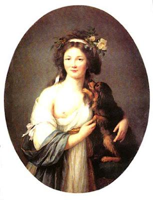 Jeune Femme avec Chien (1796), Marie-Victoire Lemoine