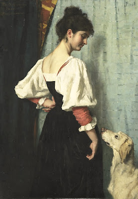 Young Italian Woman with a Dog Called Puck, Thérèse Schwartze