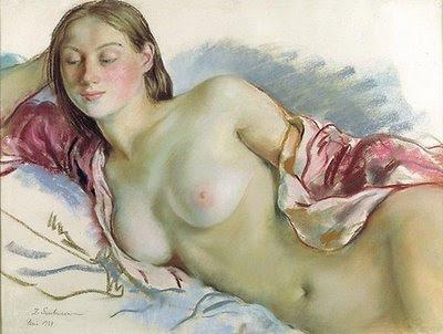 Reclining Nude: Zinaida Serebriakova