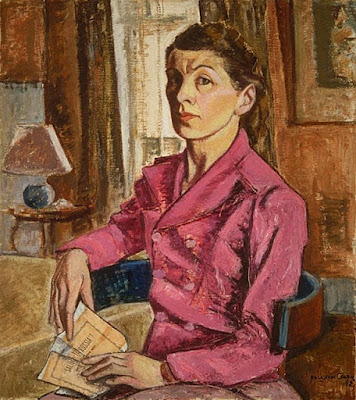 Self-Portrait with Concert Program (1942), Paraskeva Clark