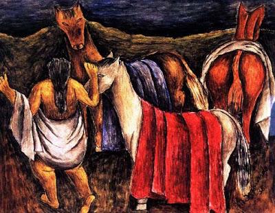 Los Caballos (1938), Maria Izquierdo