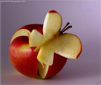 food art apple butterfly