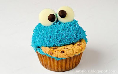 cookie monster cupcake funny food