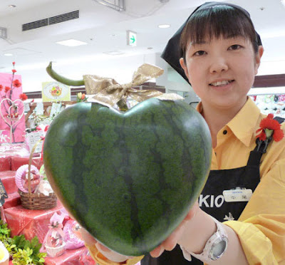 heart shaped watermelon japan