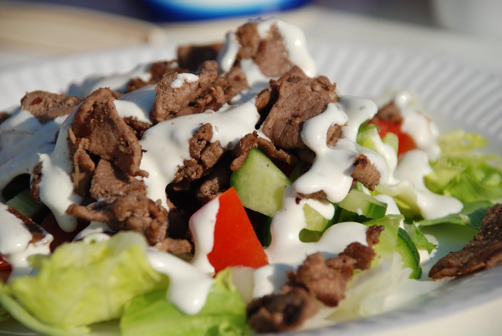 kebab i pitabröd tillbehör