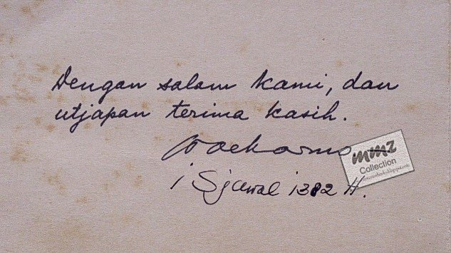 RARE BOOK  BUKU LANGKA Kartu Ucapan Presiden Soekarno